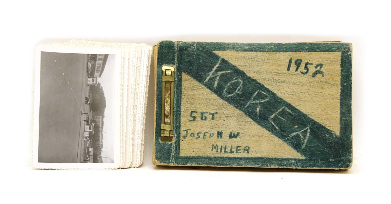 Lot 20-An American soldiers poignant Korean war photo album