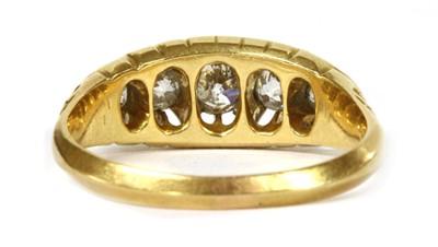 Lot 10 - An Edwardian 18ct gold five stone diamond ring