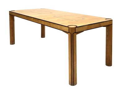 Lot 345 - A contemporary ash and Indian rosewood dining table