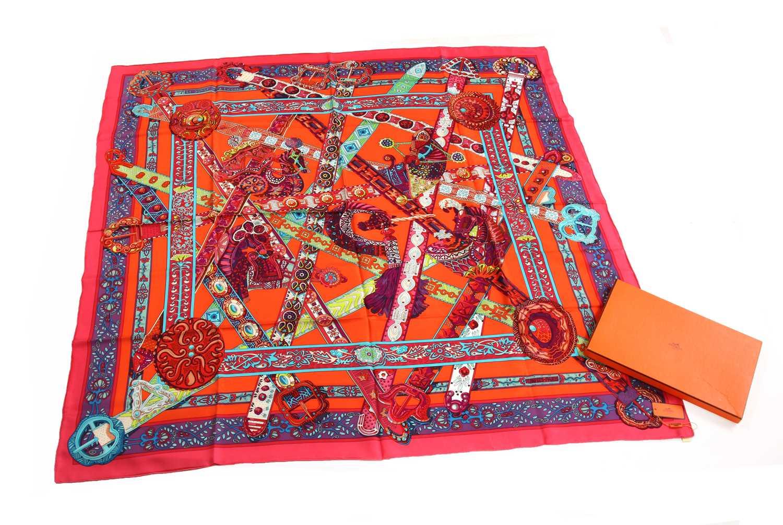 128 - An Hermès large silk scarf