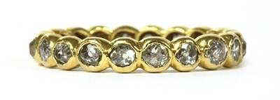 Lot 9-A gold diamond full eternity ring