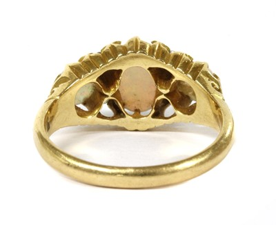 Lot 12 - A Victorian 18ct gold opal and diamond ring