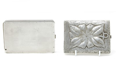Lot 18-An unusual soldiers cigarette case