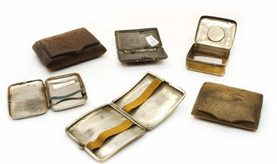 Lot 16-A collection of six soldiers World War I cigarette cases