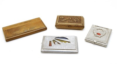 Lot 17-A collection of World War 2 Prisoner of War made cigarette cases