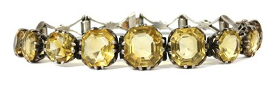 Lot 49 - A silver citrine bracelet