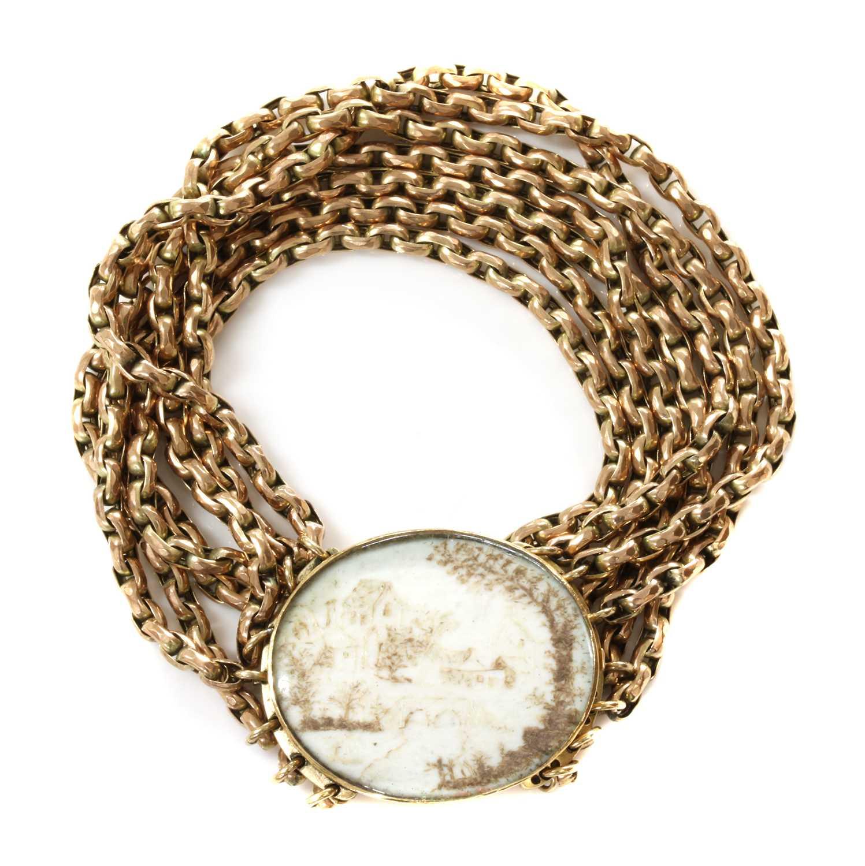 Lot 18 - A Georgian bracelet
