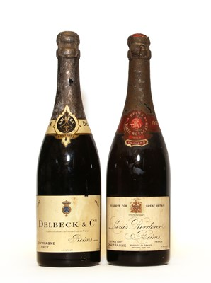 Lot 1 - Louis Roederer, Reims, 1953, one bottle and Delbeck & Cie, 1953, one bottle