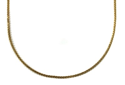 Lot 67 - A 9ct gold 'S' link chain