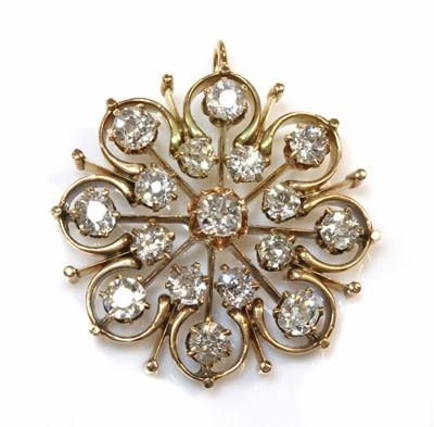 Lot 43 - A late Victorian diamond set pendant