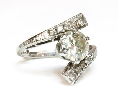 Lot 178 - A single stone diamond ring