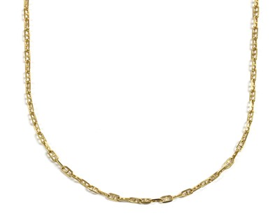 Lot 68 - A 9ct gold anchor link chain