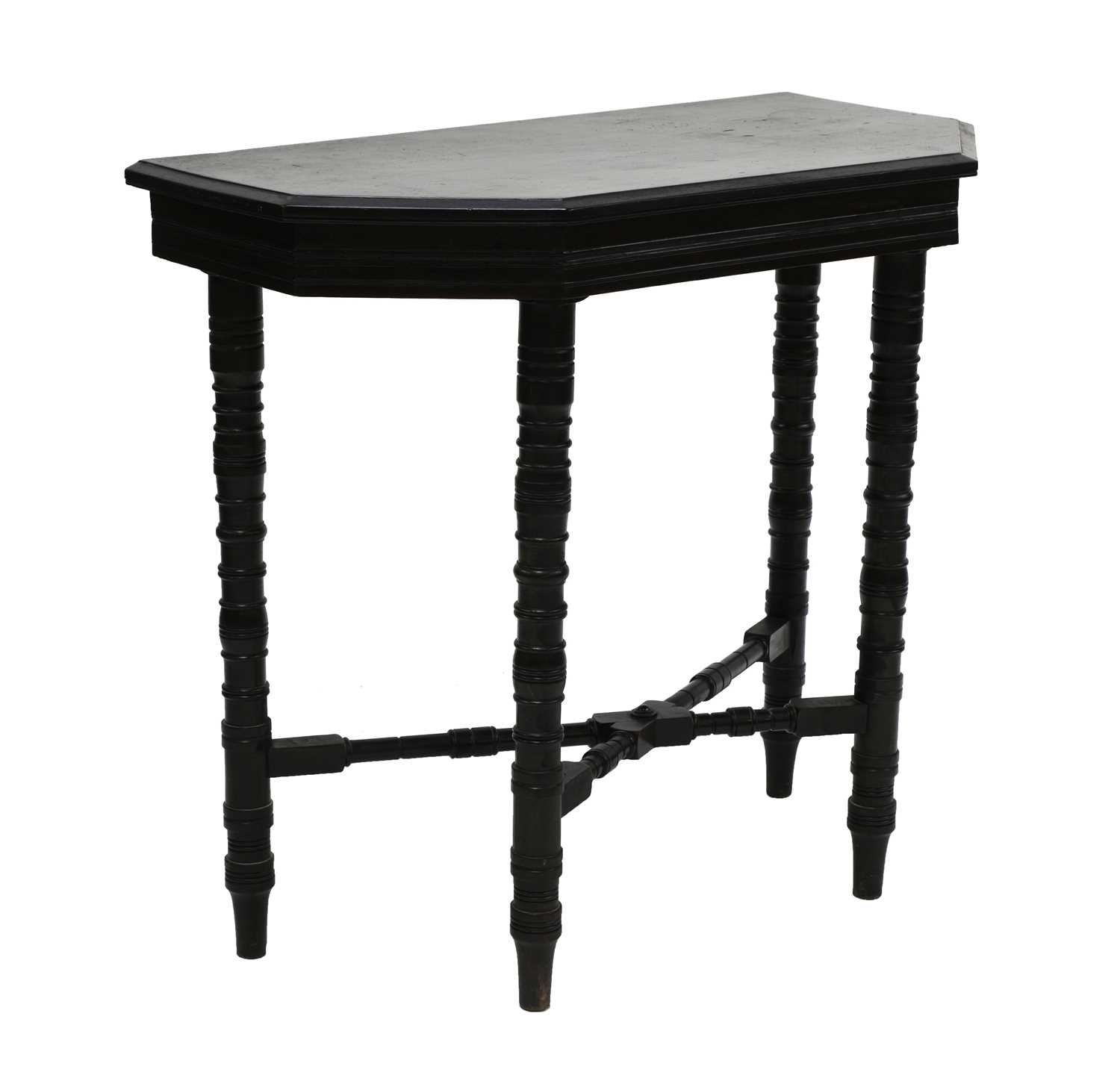 Lot 13 - An Aesthetic ebonised side table