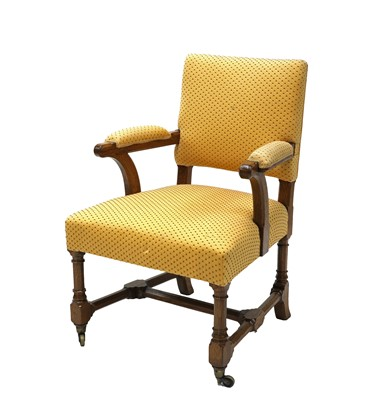 Lot 6 - A Gothic oak armchair