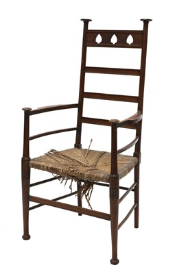 Lot 9 - An Arts and Crafts mahogany armchair