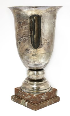 Lot 107 - A French silver-plated urn or trophy
