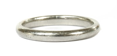 Lot 99 - A 'D' section wedding ring, by Tiffany & Co.