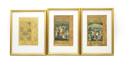 Lot 51 - Three Indian illustrated page leaves