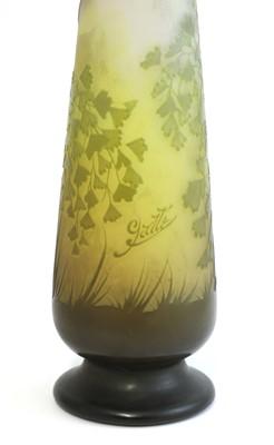 Lot 69 - A Gallé floral cameo glass vase