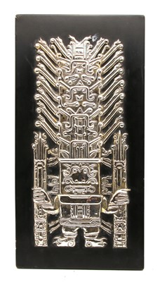 Lot 27A - A Pre-Colombian style white metal plaque
