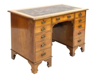 Lot 58 - An Arts and Crafts walnut desk