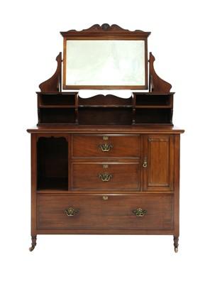 Lot 57 - An Art Nouveau mahogany dressing table