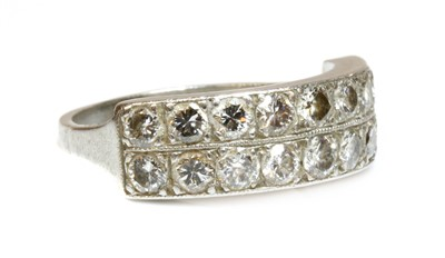 Lot 168 - A two row diamond half eternity ring