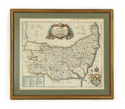 Lot 47 - MAP OF SUFFOLK by Richard Blome