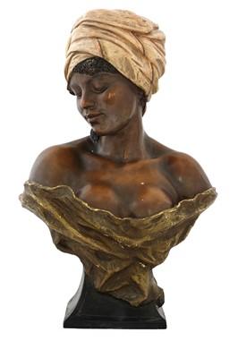 Lot 66 - A Goldscheider 'La Negresse' terracotta bust