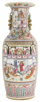 Lot 21 - A Chinese Canton enamelled famille rose vase