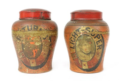 Lot 98 - A pair of pottery tobacco jars