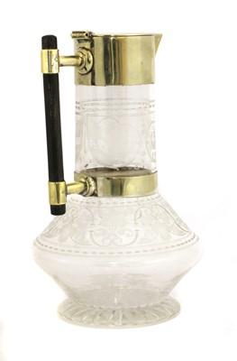 Lot 19 - A glass claret jug