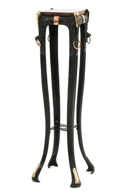 Lot 65 - An Art Nouveau cast iron torchère