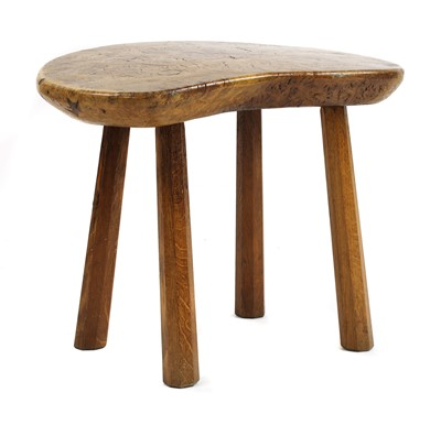 Lot 109 - A Robert 'Mouseman' Thompson burr oak table