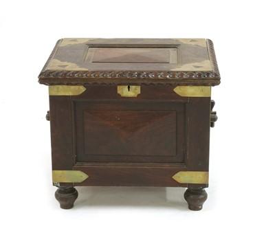 Lot 96 - A Batavian hardwood strongbox