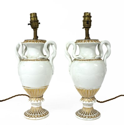 Lot 101 - A pair of Meissen style vases