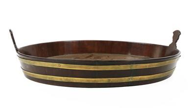 Lot 67 - A mahogany oval tray