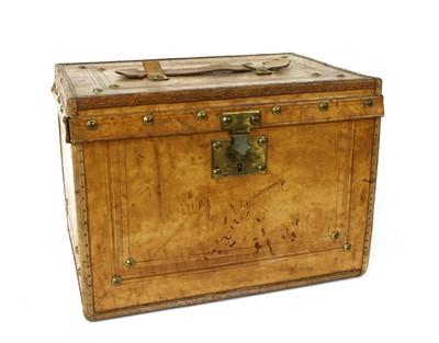 Lot 64 - A small leather trunk