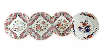 Lot 69 - Three Chinese famille rose plates