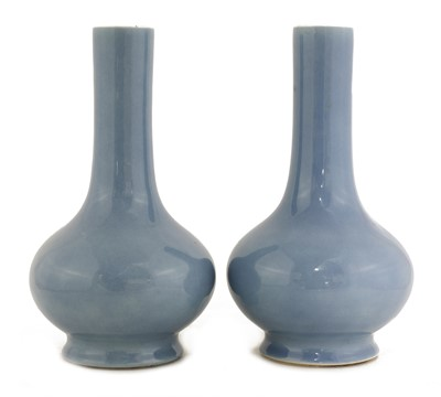 Lot 47 - A pair of Chinese bottle vases