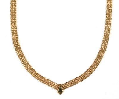 Lot 69 - A 9ct gold Bismarck link necklace