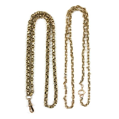 Lot 88 - Two gold chains
