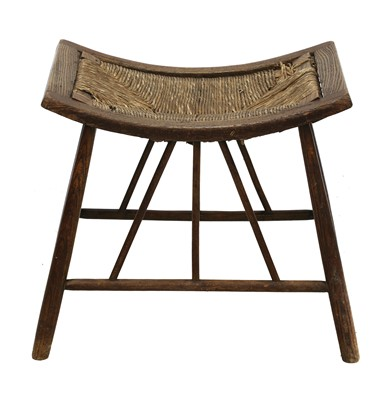 Lot 10 - An Arts and Crafts ash Thebes stool