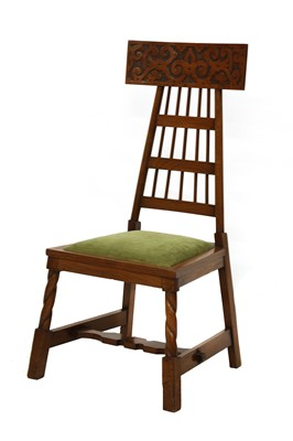 Lot 27 - A Liberty walnut side chair