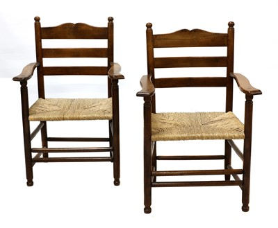 Lot 97 - A pair of rare Gordon Russell yew wood ladderback chairs