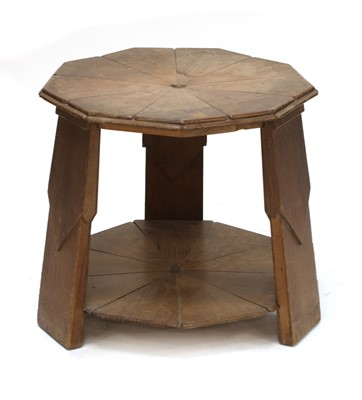 Lot 29 - An unusual Arts and Crafts Baltic pine occasional table