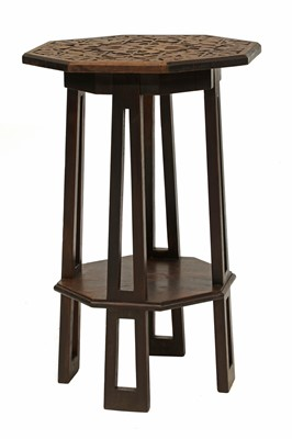 Lot 30 - An Arts and Crafts walnut octagonal occasional table