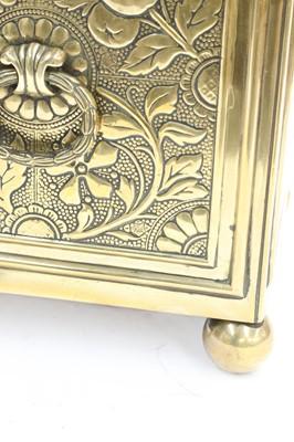 Lot 12 - An Aesthetic brass bough pot