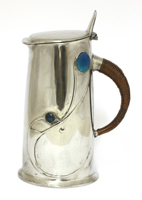 Lot 59 - A Liberty Tudric pewter and enamel jug