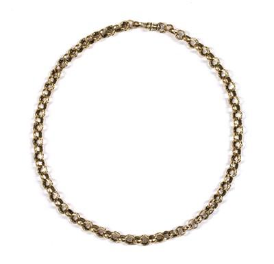 Lot 4 - A gold belcher link chain